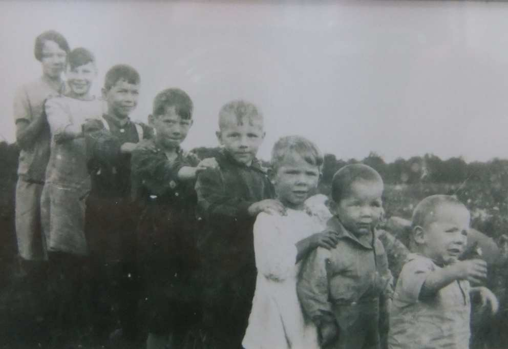Donovan kids in about 1928 (Ruth is 3rd from the right)