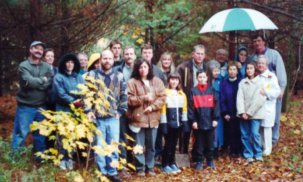 "Gathering to bury Jim Sinclair at the ""lodge"" 1998."