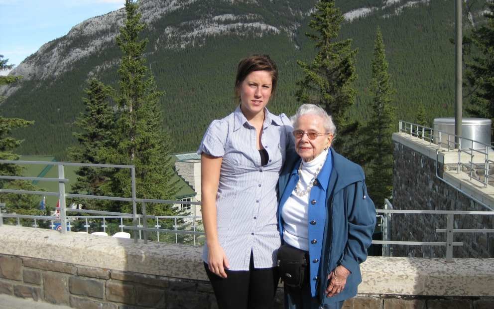 Ruth and granddaughter Carlee (Ron's daughter) in Alberta