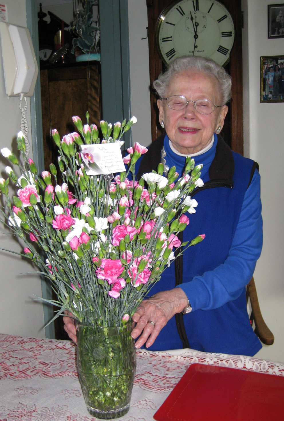 Ruth loved flowers