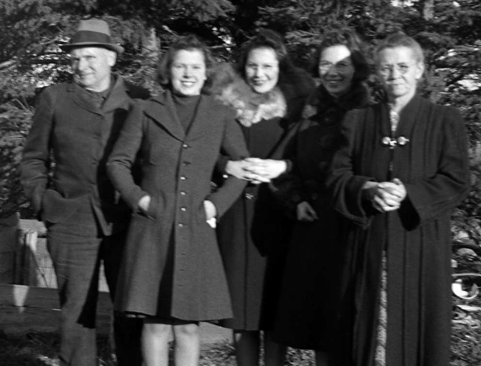 Father Archibald, Ruth, sisters Mary and Marg and mother Emma.
